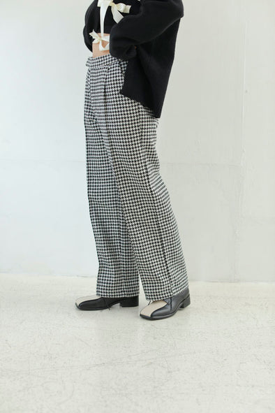 houndstooth pattern pants PR010155