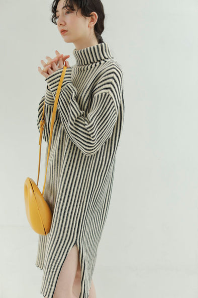 stripe knit one-piece PR130145