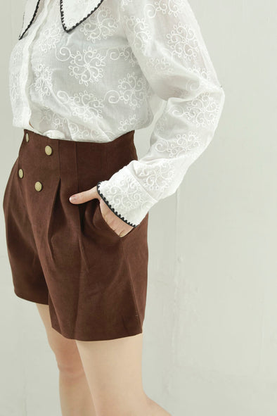 double button short pants PR010156