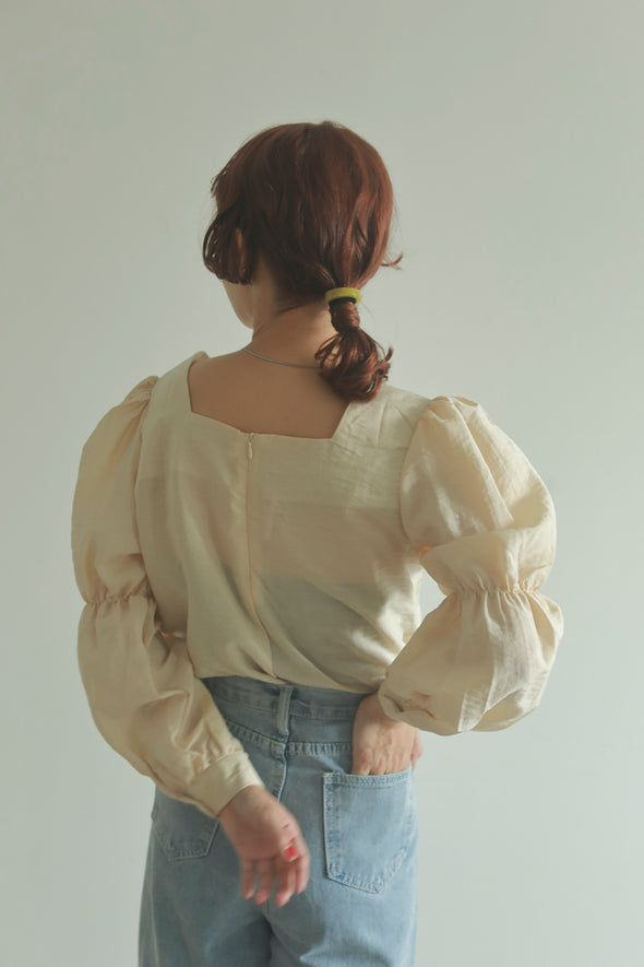 lady square blouse PR070074