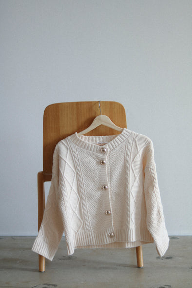 cable Knit cardigan PR180060
