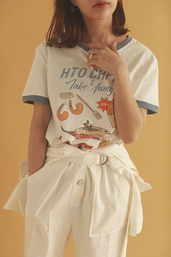 "Piping ""HOT CHIPS"" T-shirt PR260037"