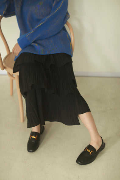 asymmetric pleated skirt PR150111