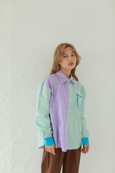 colorful line shirt PR310078