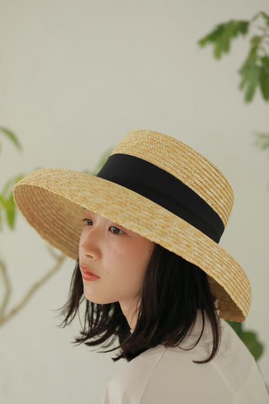 Straw ribbon hat PR100114