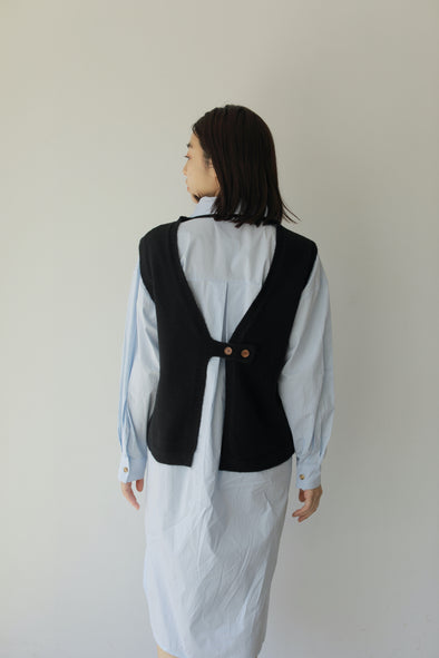 back design knit vest PR240106