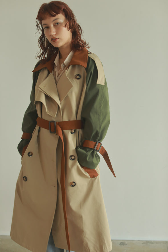 bycolor trench coat PR100061
