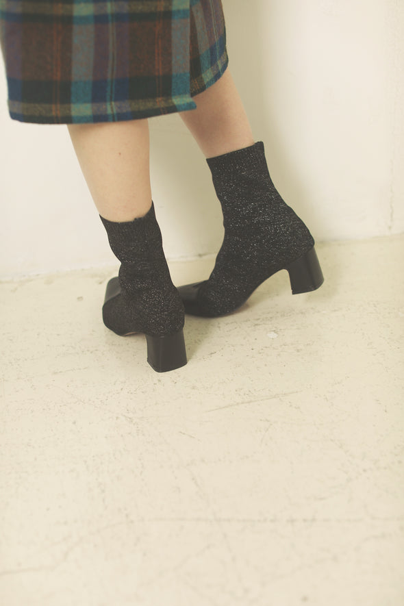Pointed knit boots PR000232