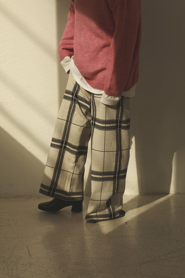 Check wide pants PR000303