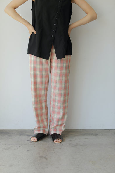 gingham check pants PR310086