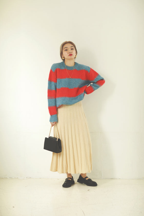 Damage border knit PR000164