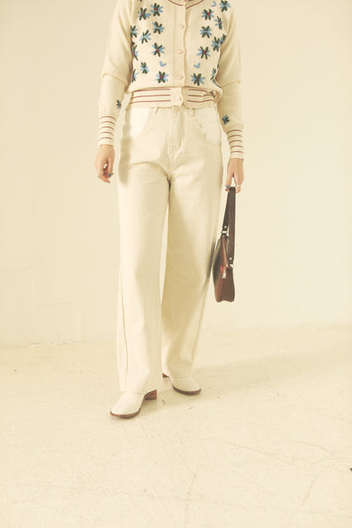 High waist white pants PR000260