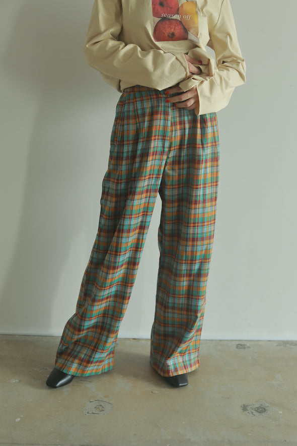 check straight pants PR130066