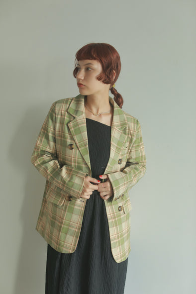 double button check jacket PR130092