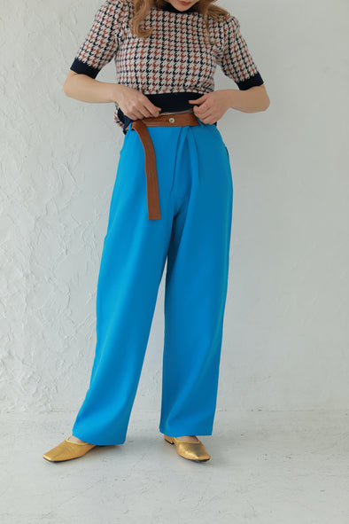 Long belt slacks pants PR120144