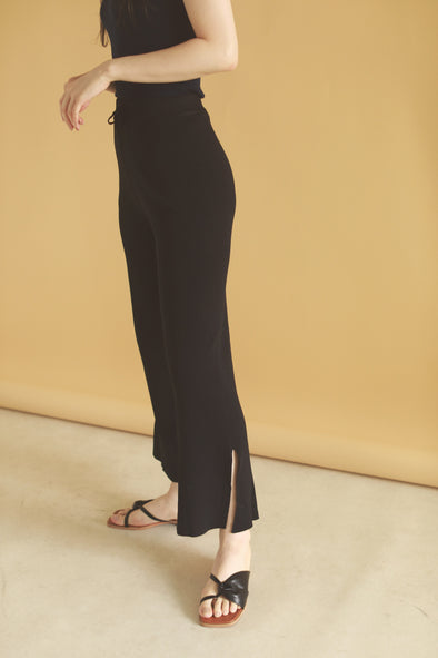slit ribbed pants PR120060