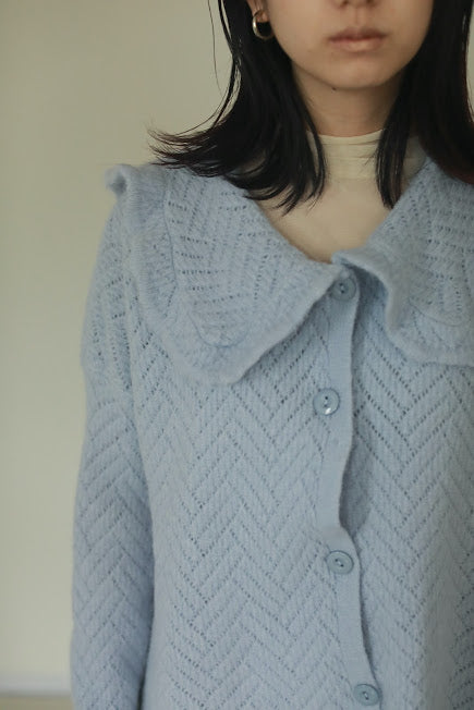 big collar knit cardigan PR220047