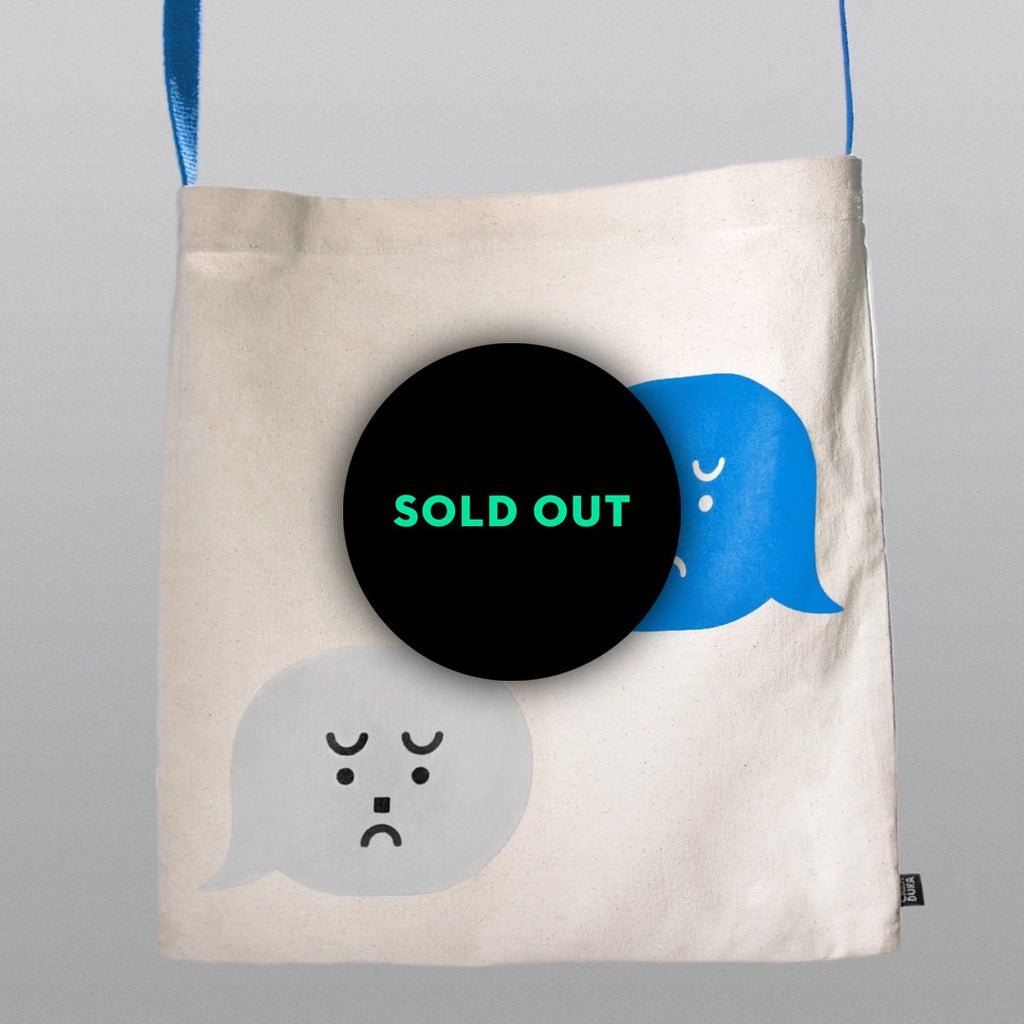 SAD TEXT Tote Bag
