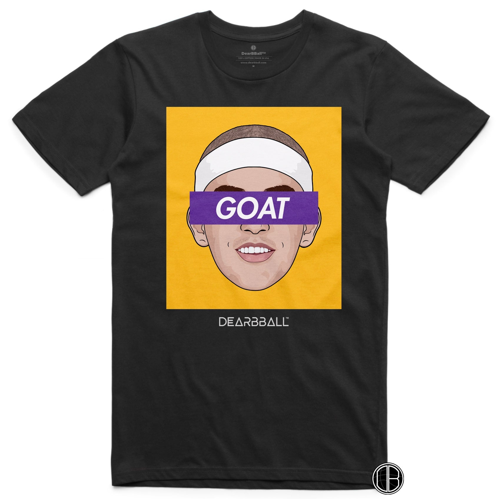 Alex-Caruso-T-Shirt-Goat-yellow-Los-Angeles-Lakers-Basketball-Dearbball