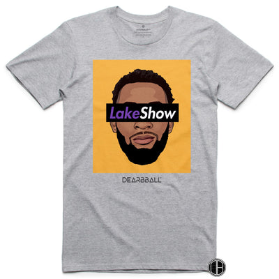 Andre Drummond T-Shirt - Leak Show Yellow Los Angeles Lakers Basketball Dearbball grey