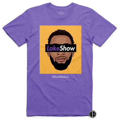 Andre Drummond T-Shirt - Leak Show Yellow Los Angeles Lakers Basketball Dearbball purple