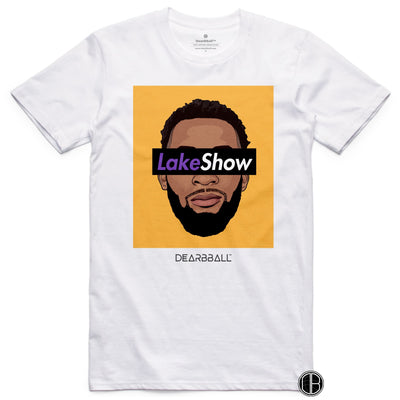 Andre Drummond T-Shirt - Leak Show Yellow Los Angeles Lakers Basketball Dearbball white