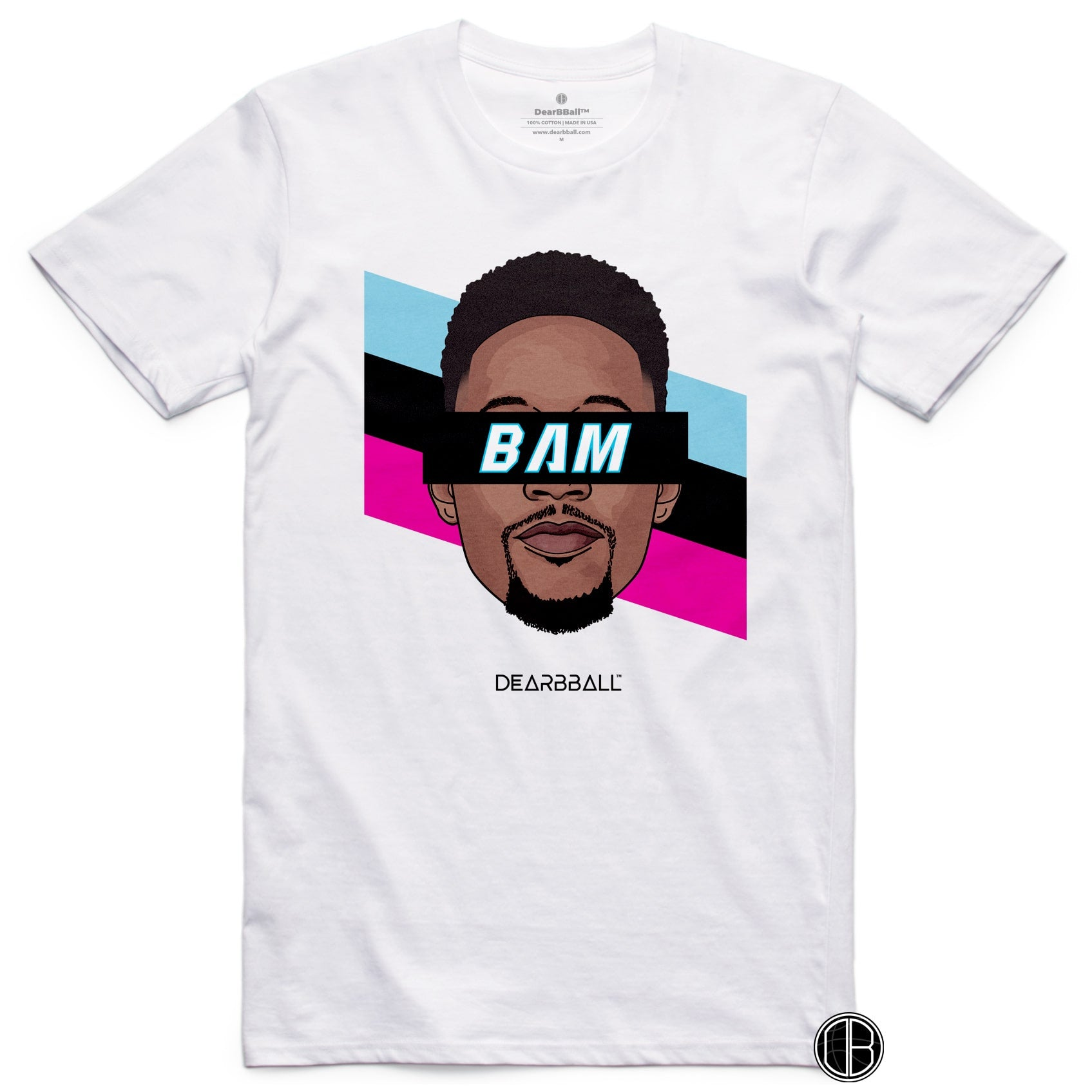 Bam-Adebayo-T-Shirt-BAM-Miami-Heat-Stripes-Limited-Edition-Basketball-Dearbball