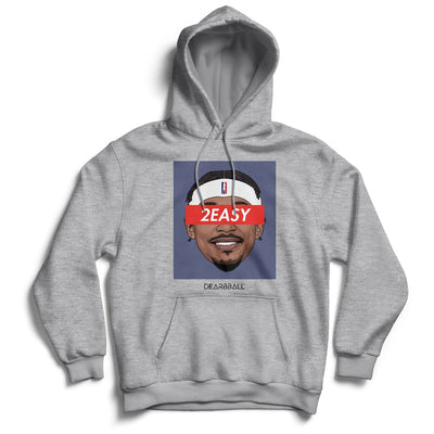 Bradley Beal Hoodie - 2Easy Blue Washington Wizards Basketball Dearbball grey