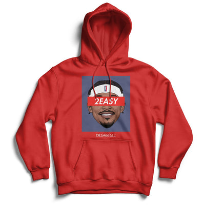 Bradley Beal Hoodie - 2Easy Blue Washington Wizards Basketball Dearbball red