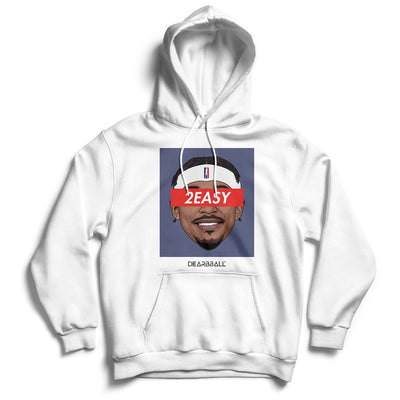 Bradley Beal Hoodie - 2Easy Blue Washington Wizards Basketball Dearbball white