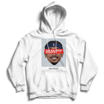 Bradley Beal Hoodie - Silent Assassin Grey Washington Wizards Basketball Dearbball white