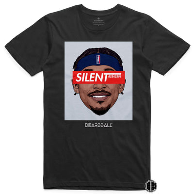 Bradley Beal T-Shirt - Silent Assassin Grey Washington Wizards Basketball Dearbball black