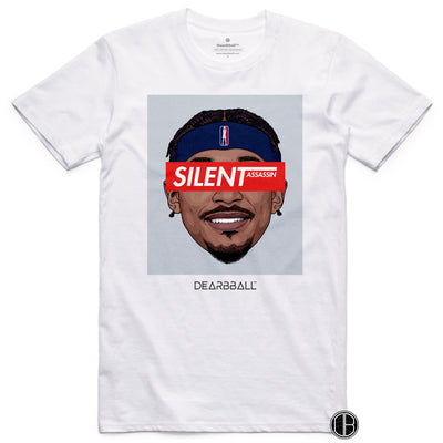 Bradley Beal T-Shirt - Silent Assassin Grey Washington Wizards Basketball Dearbball white