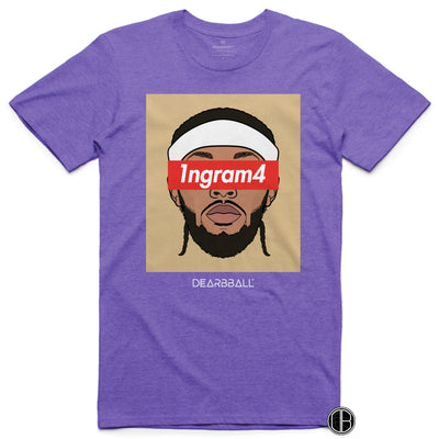 Brandon Ingram T-shirt Bio - 1ngram4 New Orleans Pelicans Basketball Dearbball purple