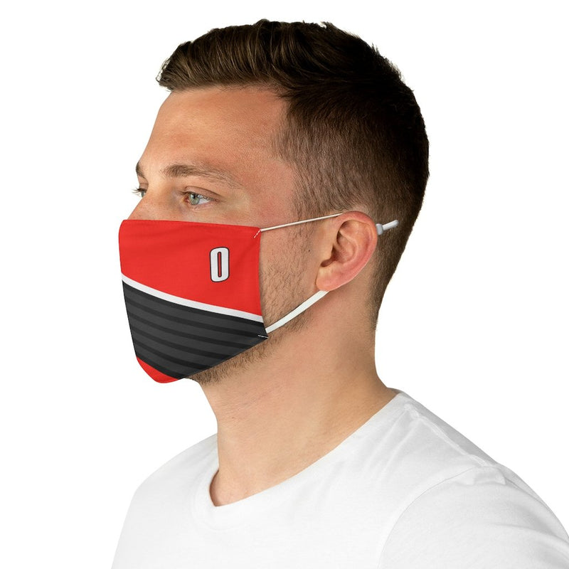 Damian Lillard Face Mask Covering - Portland 0 Red