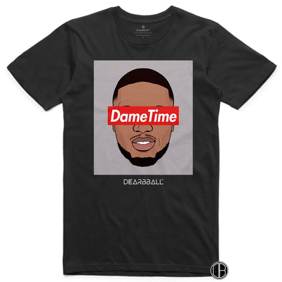 Damian Lillard T-Shirt - Dame Time Portland Trail Blazers Basketball Dearbball black
