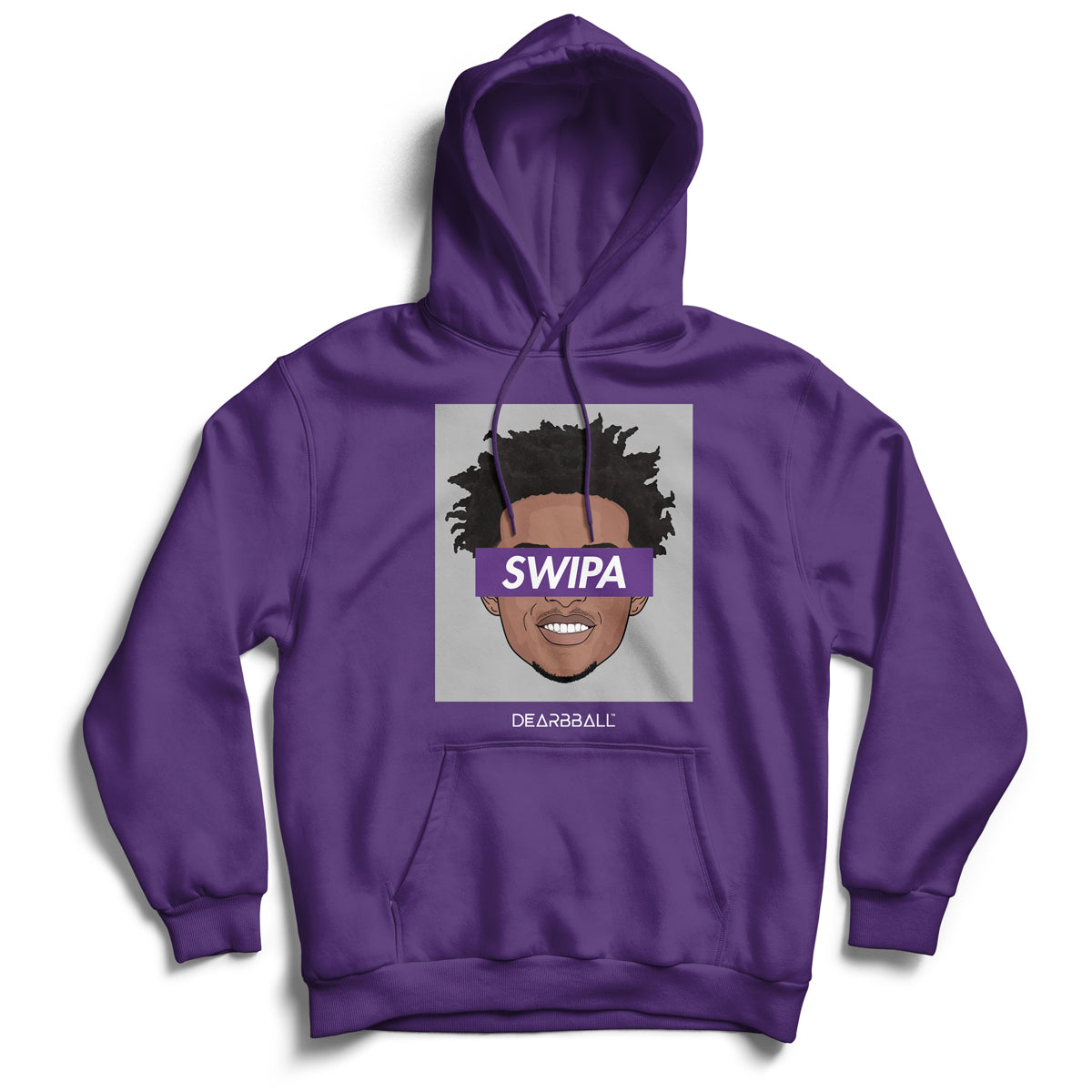De'aaron_Fox_hoodie_SWIPA_Sacramento_Kings_dearbball_purple