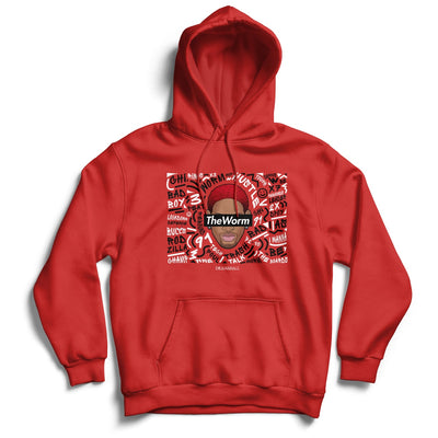 Dennis Rodman Hoodie - TheWorm Words Supremacy Legends
