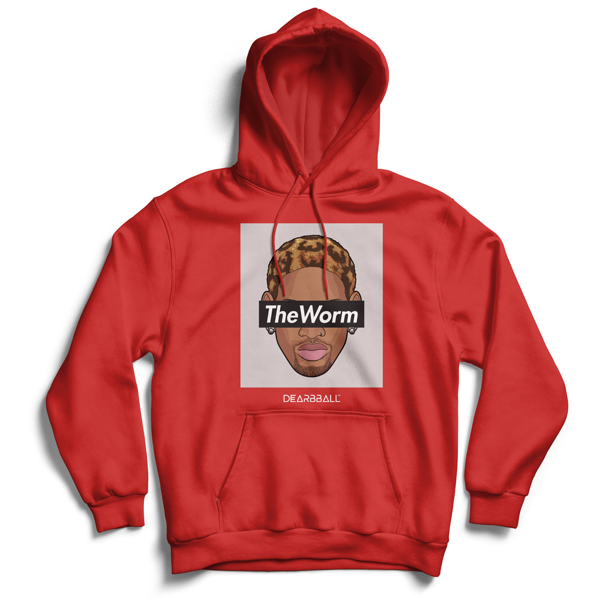 Dennis_rodman_hoodie_worm_tee_chicago_bulls_legends_nba_dunk_dearbball_red