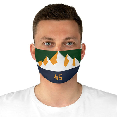 Donovan Mitchell Face Mask Covering - 45 Jazz Mountains Alternative
