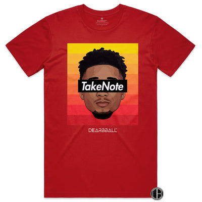 Donovan_Mitchell_Shirt_Take_Note_Gradient_Dearbball_Red