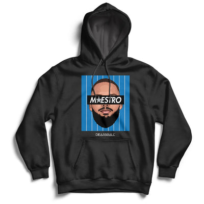 Evan Fournier Hoodie - Maestro Blue Orlando Magic Basketball Dearbball black