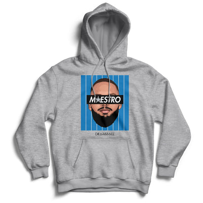 Evan Fournier Hoodie - Maestro Blue Orlando Magic Basketball Dearbball grey