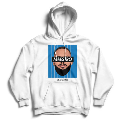 Evan Fournier Hoodie - Maestro Blue Orlando Magic Basketball Dearbball white