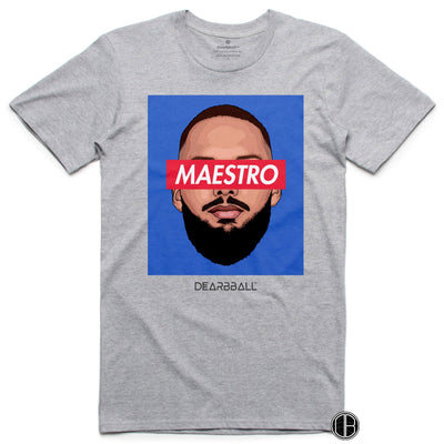 Evan Fournier T-Shirt - Maestro France Orlando Magic Basketball Dearbball grey