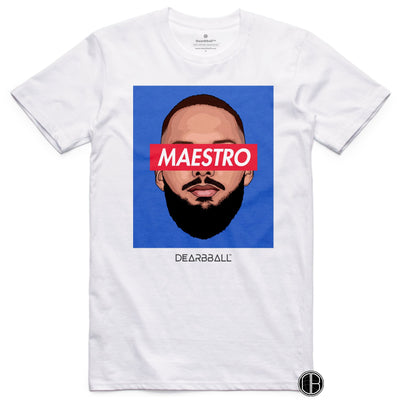 Evan Fournier T-Shirt - Maestro France Orlando Magic Basketball Dearbball white