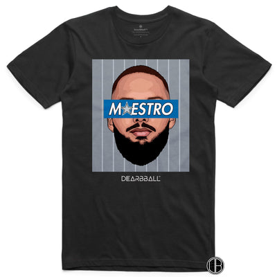 Evan Fournier T-Shirt - Maestro Grey Orlando Magic Basketball Dearbball black