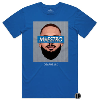 Evan Fournier T-Shirt - Maestro Grey Orlando Magic Basketball Dearbball royal