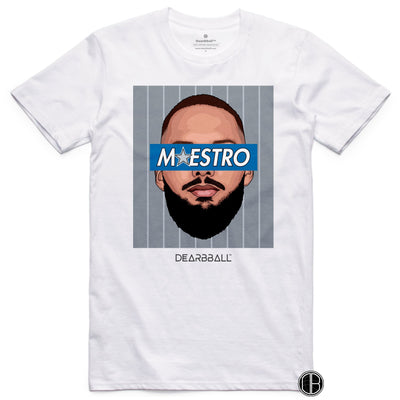 Evan Fournier T-Shirt - Maestro Grey Orlando Magic Basketball Dearbball white