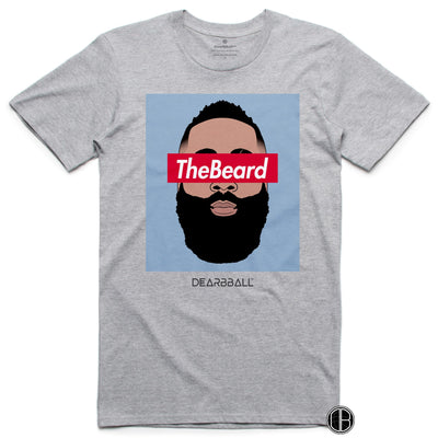 James Harden Shirt - THe Beard Blue Houston Rockets Basketball Dearbball grey